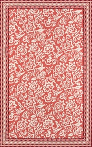 Red, Ivory Under A Loggia Rokeby Road Floral / Botanical Area Rugs