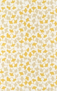 Gold, Yellow, Ivory Under A Loggia Howards End Floral / Botanical Area Rugs