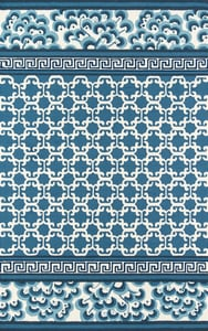 Navy, Blue, Ivory Under A Loggia Montserrat Contemporary / Modern Area Rugs
