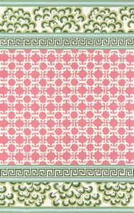 Pink, Green, Ivory Under A Loggia Montserrat Contemporary / Modern Area Rugs