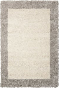 Ivory, Silver Amore AMOR-5 Contemporary / Modern Area Rugs