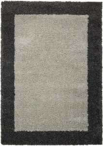 Silver, Charcoal Amore AMOR-5 Contemporary / Modern Area Rugs