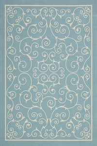 Light Blue Home and Garden RS-019 Contemporary / Modern Area Rugs