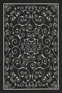 Black Home and Garden RS-019 Contemporary / Modern Area Rugs