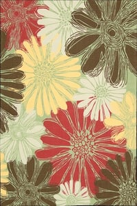Green Home and Garden RS-022 Floral / Botanical Area Rugs