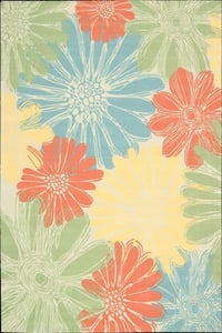 Ivory Home and Garden RS-022 Floral / Botanical Area Rugs
