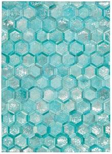 Turquoise Michael Amini - City Chic MA-01 Contemporary / Modern Area Rugs