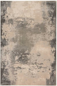 Ivory, Grey Maxell MAE-13 Abstract Area Rugs