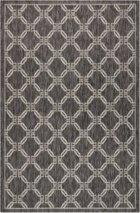 Charcoal Garden Party GRD-02 Contemporary / Modern Area Rugs