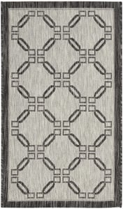 Ivory, Charcoal Garden Party GRD-02 Contemporary / Modern Area Rugs