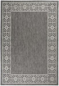Charcoal Garden Party GRD-03 Contemporary / Modern Area Rugs