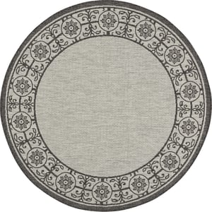 Ivory, Charcoal Garden Party GRD-03 Contemporary / Modern Area Rugs