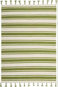 Ivory, Green Rio Vista SLN-01 Striped Area Rugs