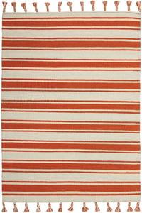 Ivory, Orange Rio Vista SLN-01 Striped Area Rugs