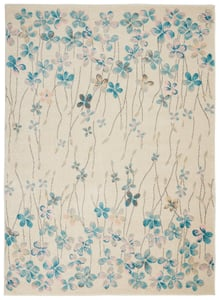 Ivory Tranquil TRA04 Floral / Botanical Area Rugs