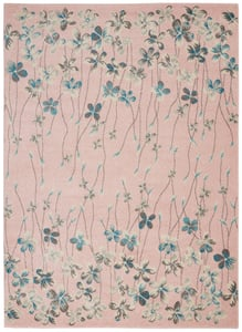 Pink Tranquil TRA04 Floral / Botanical Area Rugs