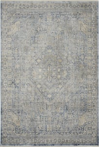 Blue, Ivory Silken Weave SLW-02 Vintage / Overdyed Area Rugs