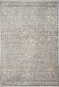 Grey, Beige Silken Weave SLW-02 Vintage / Overdyed Area Rugs