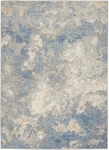 Ivory, Blue Joli IMHR-1 Abstract Area Rugs