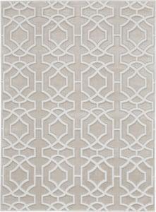 Beige, White Joli IMHR-2 Contemporary / Modern Area Rugs