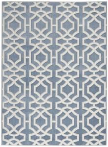 Blue, White Joli IMHR-2 Contemporary / Modern Area Rugs