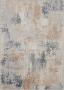 Beige, Grey Rustic Textures RUS-02 Contemporary / Modern Area Rugs