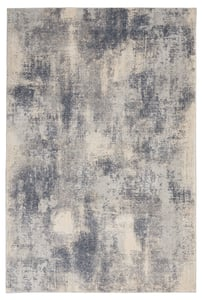 Blue, Ivory Rustic Textures RUS-02 Contemporary / Modern Area Rugs