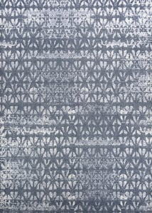 Confederate Grey, Ivory (1259-0225) Marina Grisaille Vintage / Overdyed Area Rugs