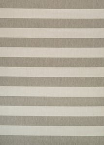 Tan, Ivory (5229-6099) Afuera Yacht Club Striped Area Rugs