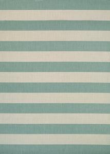 Sea Mist, Ivory (5229-8003) Afuera Yacht Club Striped Area Rugs