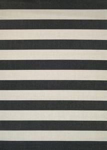 Onyx, Ivory (5229-9081) Afuera Yacht Club Striped Area Rugs