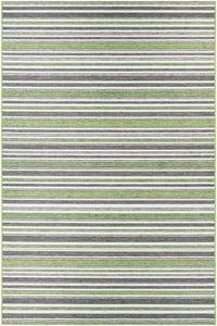 Hunter Green, Brown (1403-0001) Cape Brockton Striped Area Rugs