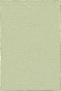 Green, Ivory (4962-0731) Cottages Bungalow Chevron Area Rugs