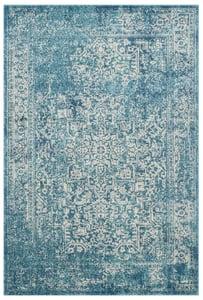 Blue, Ivory (C) Evoke EVK-256 Vintage / Overdyed Area Rugs