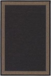 Black, Cocoa (1681-2000) Recife Wicker Stitch Contemporary / Modern Area Rugs