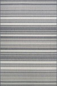 Champagne, Grey (5313-3312) Recife Gazebo Stripe Striped Area Rugs