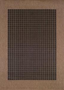 Black, Cocoa (1005-2000) Recife Checkered Field Country Area Rugs