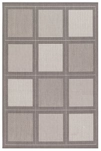 Grey, White (1043-3012) Recife Summit Geometric Area Rugs