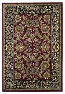 Red, Black (7301) Cambridge Kashan I Traditional / Oriental Area Rugs