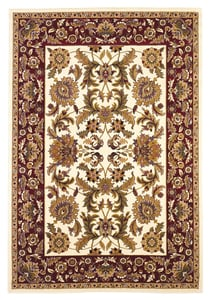 Ivory, Red (7303) Cambridge Kashan I Traditional / Oriental Area Rugs