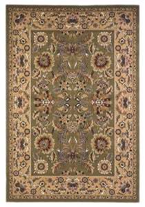 Green, Taupe (7304) Cambridge Kashan I Traditional / Oriental Area Rugs