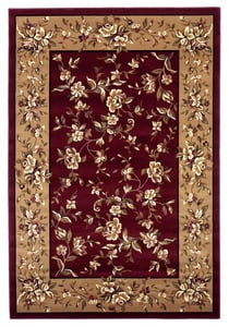 Red, Beige (7337) Cambridge Floral Delight Floral / Botanical Area Rugs