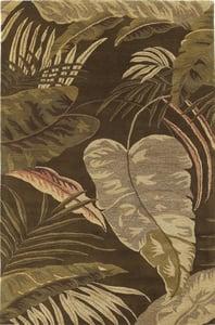Mocha (2615) Havana Rainforest Floral / Botanical Area Rugs