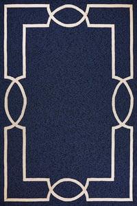 Navy, Cream (5524) Libby Langdon - Hamptons Madison Contemporary / Modern Area Rugs