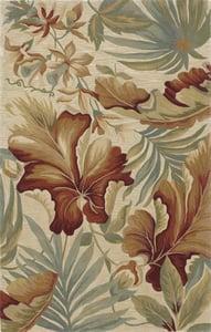 Ivory (3130) Sparta Paradise Floral / Botanical Area Rugs