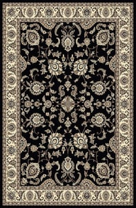 Black Andalo 1426 Traditional / Oriental Area Rugs