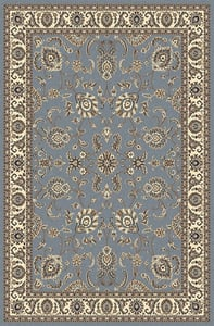 Grey Blue Andalo 1426 Traditional / Oriental Area Rugs