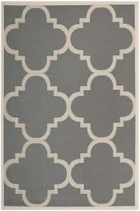 Grey, Beige (246) Courtyard CY-6243 Contemporary / Modern Area Rugs