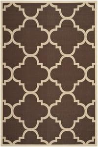 Dark Brown (204) Courtyard CY-6243 Contemporary / Modern Area Rugs