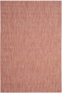 Red, Beige (36521) Courtyard CY-8521 Contemporary / Modern Area Rugs